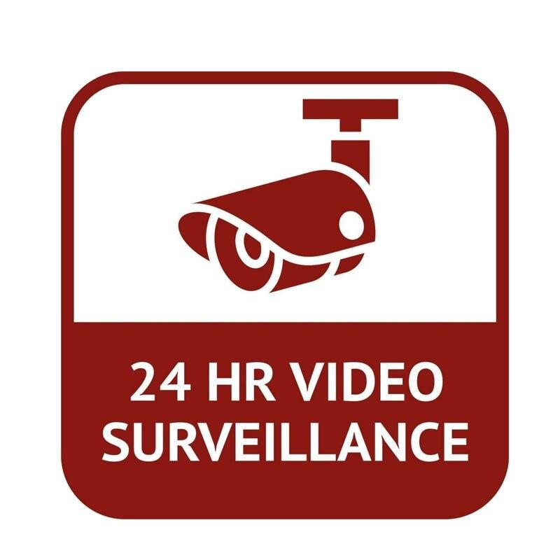 Автомобильные наклейки индивидуальные 24 часа видео наблюдения наклейки для автомобиля забавные ПВХ Водонепроницаемый солнцезащитные нак...