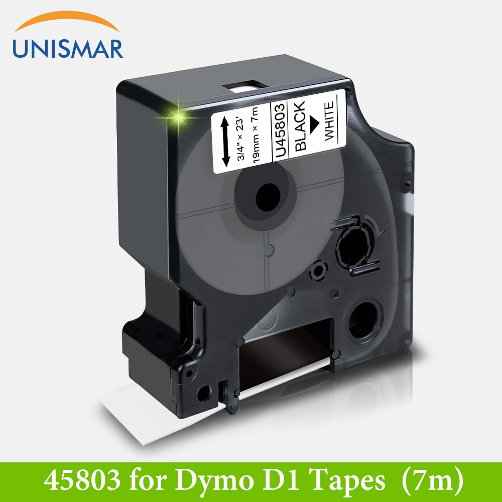 Cinta de etiquetas mm negro sobre blanco 45803 19 para DYMO D1 cinta adhesiva para LabelManager 360D 420P PnP inalámbrica Rhino 5200 4200 impresora