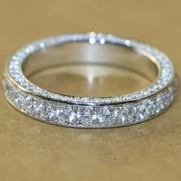 trendy classical clea crystal ring jewelry engagement wedding band anniversary gift daily casual accessory for women