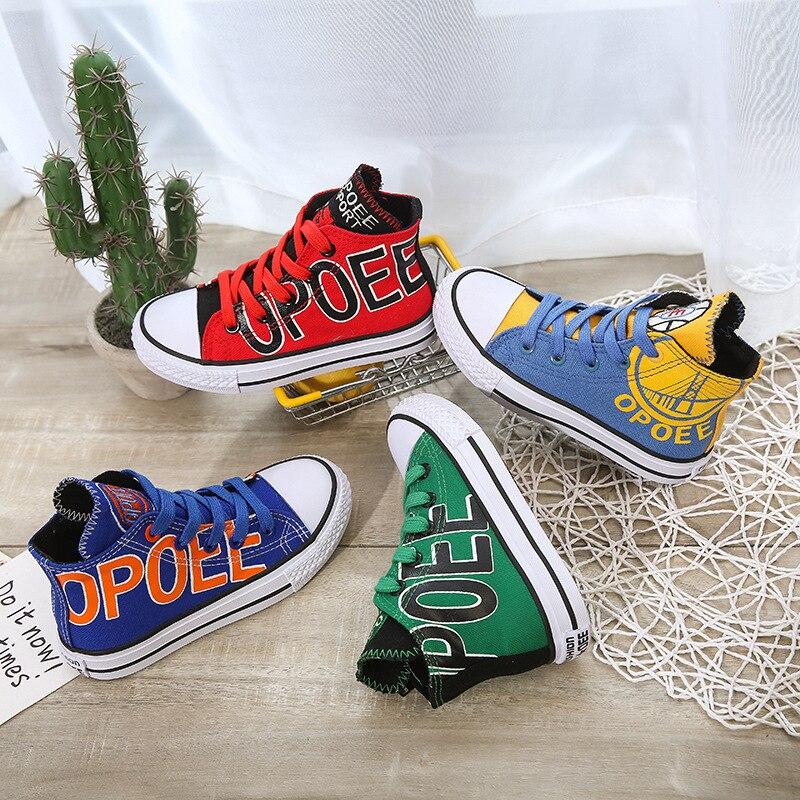 Модные детские холщовые кроссовки, Повседневные детские кроссовки, холщовые кроссовки для девочек, дышащая обувь для мальчиков, Высококаче...