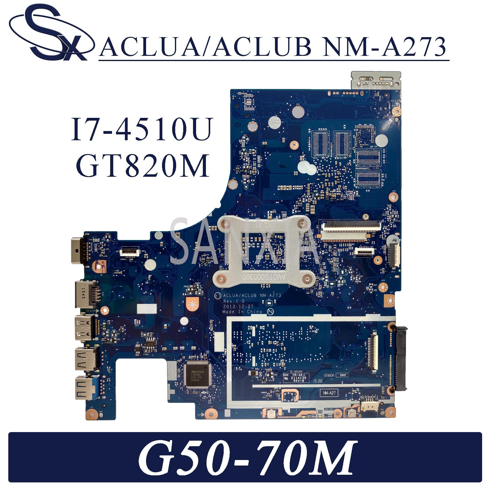 KEFU NM-A273 اللوحة المحمول لينوفو G50-70M Z50-70 اللوحة الأصلية I7-4510U GT820M