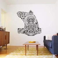 tattoo tribe warrior africa mask aborigines wall decal vinyl decor home decoration room stickers