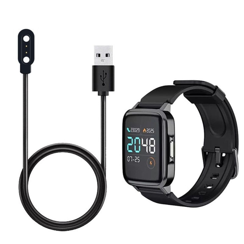 Cable de carga para reloj inteligente Haylou LS01 de 100cm, Correa magnética USB para reloj inteligente, accesorios para Cable de carga