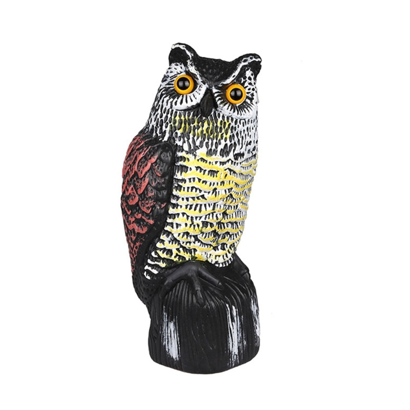 Simulation Owl Sculpture Garden Art Resin Craft Owl Statue Garden Ornament Landscaping Yard Sculptures Decoration 85DB