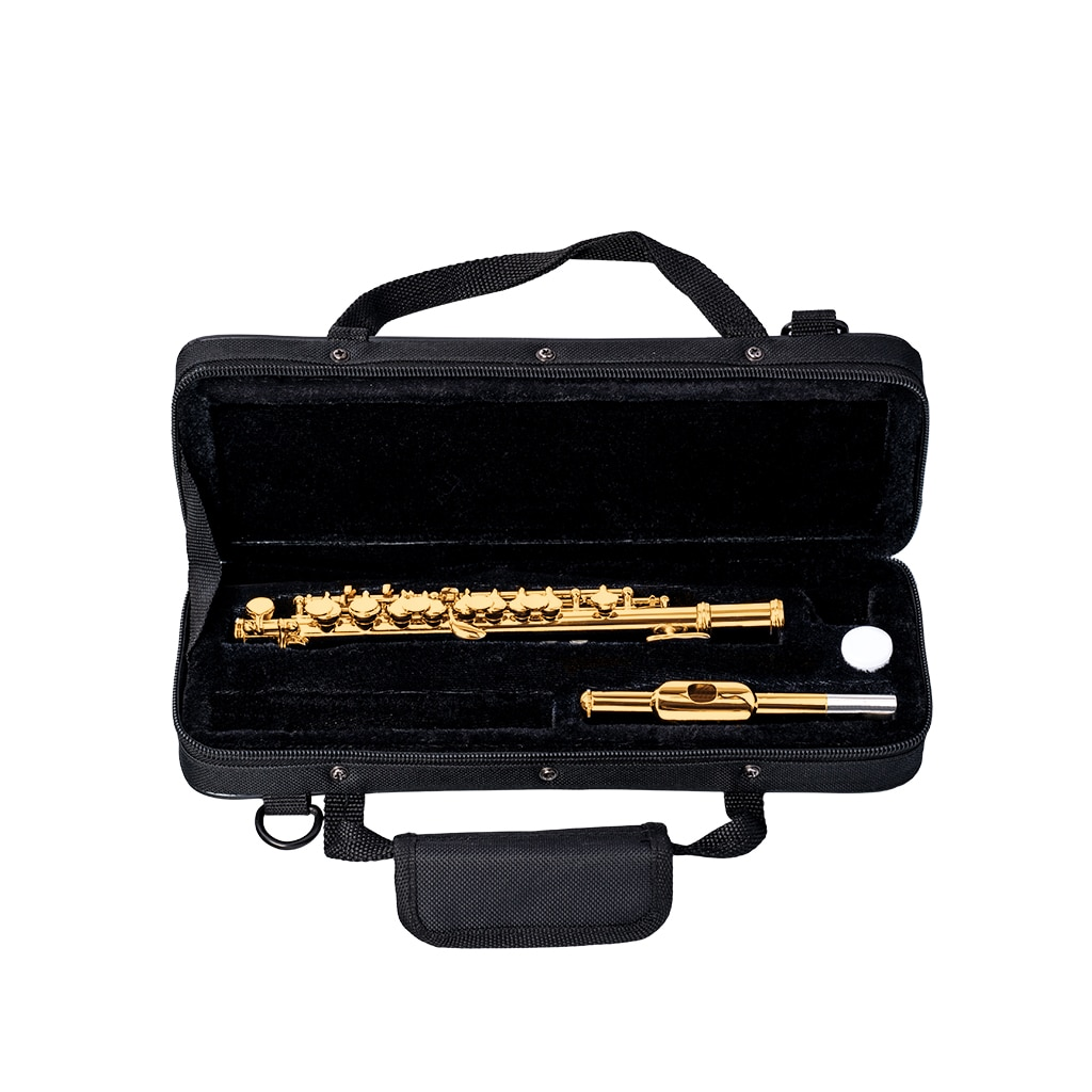 NAOMI Excellent Nickel Plated C Key Piccolo Gold Color W/ Case Cleaning Rod And Cloth And Gloves Cupronickel Piccolo Set enlarge
