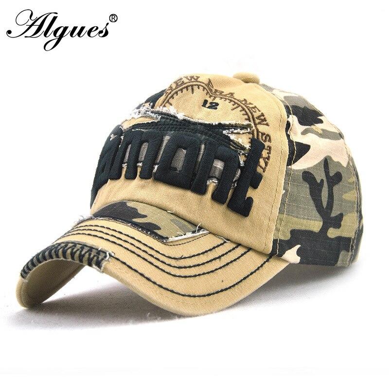 Gorra de béisbol Camo, gorras de pesca para hombres, caza al aire libre, sombrero para jungla, Airsoft, táctico, senderismo, gorras, ropa de calle