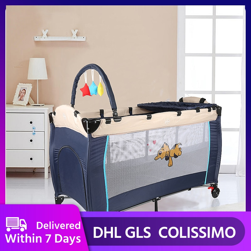 Multifunctional Baby Crib Foldable Baby Bed Travel Bed Infant Toddler Cotton Cradle Mosquito Net Cribs For Baby Sleeping HWC
