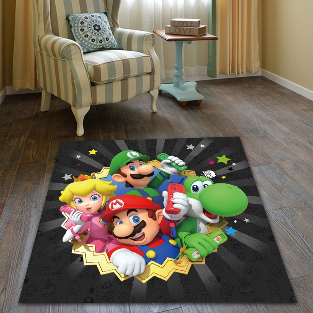 Large Super Mario Game Rug Doormat Floor Mat Carpet Home Carpet Hotel Living Room Floor Mats Anti Slip