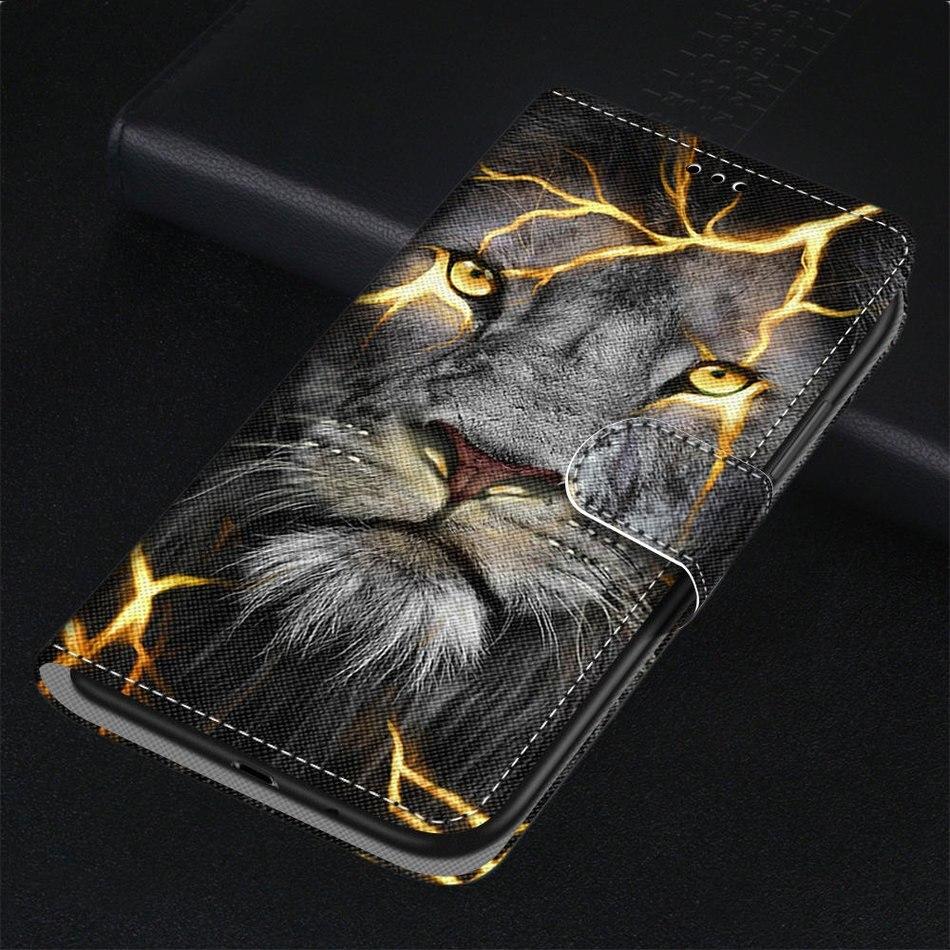 Chat Lion bête Cool étui pour Huawei Mate 30 Lite P Smart P20 Plus P30 Pro Nova 5i 10 20 Z fente pour carte aimant étui de téléphone DP08F