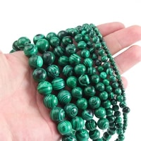 xinyao natural malachite stone 4681012mm round spacers loose beads for jewelry making diy bracelets necklace accessories