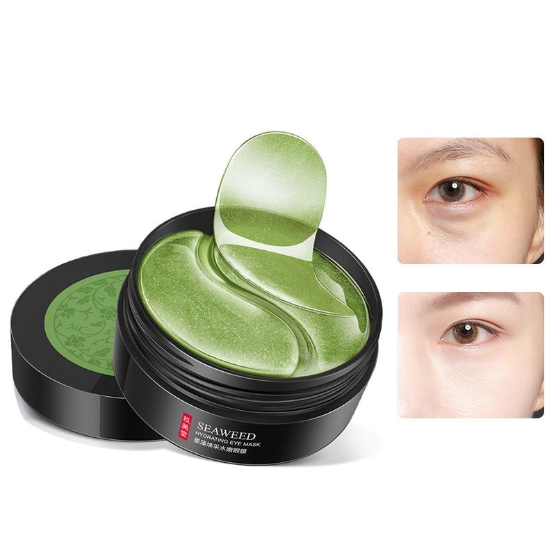 60pcs Gold Moisturizing Seaweed Crystal Collagen Eye Mask Patch Anti-Wrinkle Anti Aging Remove Dark Circles Bags Eye Care Masks недорого