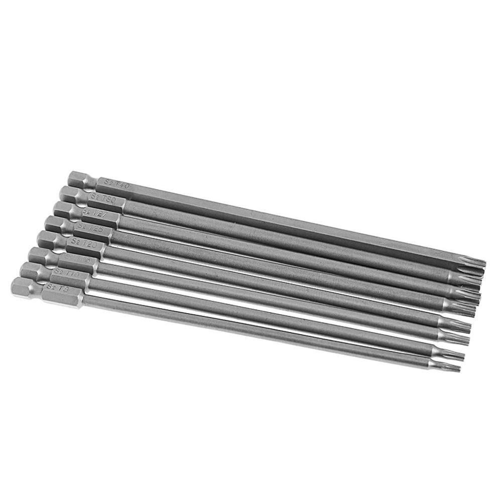 8 Uds 150mm largo magnética de seguridad Torx destornillador eléctrico brocas conjunto de