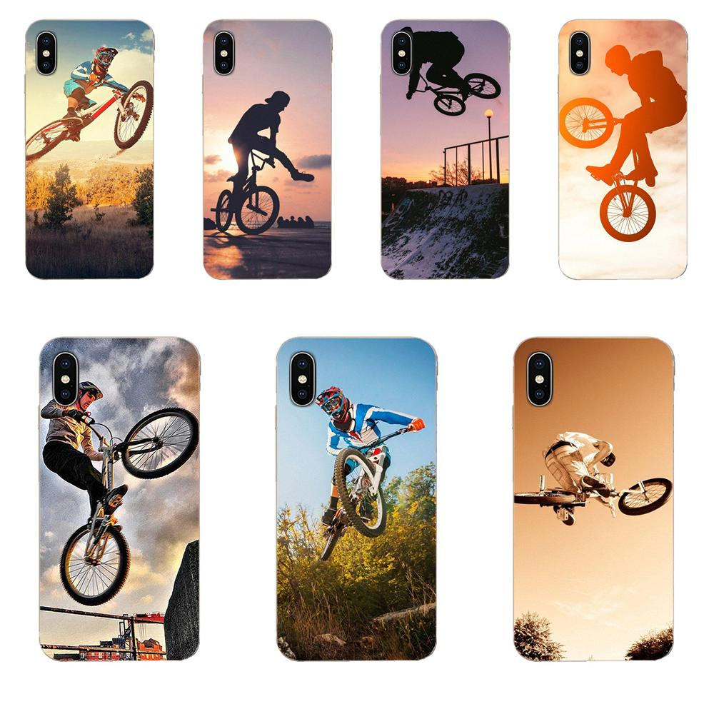 Bicicleta Motocross Bmx para Motorola G G2 G3 G4 G5 G6 G7 Plus para Xiaomi Redmi Nota 8 8A 8T 10 K30 5G Pro TPU CASO DE LA