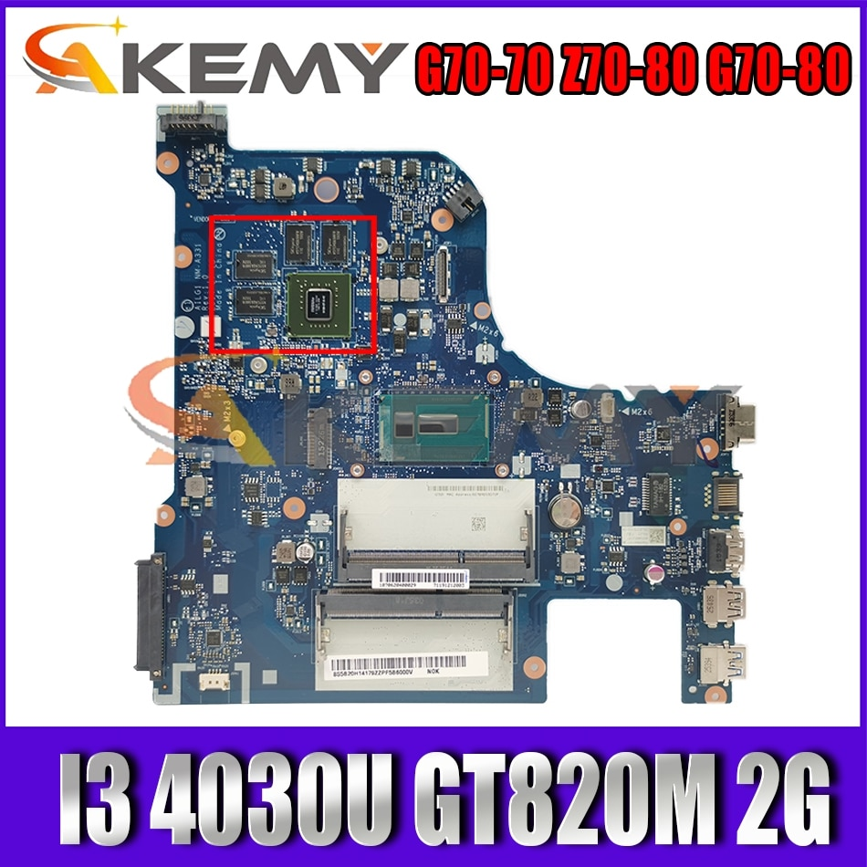 Akemy AILG1 NM-A331 Motherboard For Lenovo G70-70 Z70-80 G70-80 Laptop Motherboard CPU I3 4030U GT820M 2G 100% Test Work
