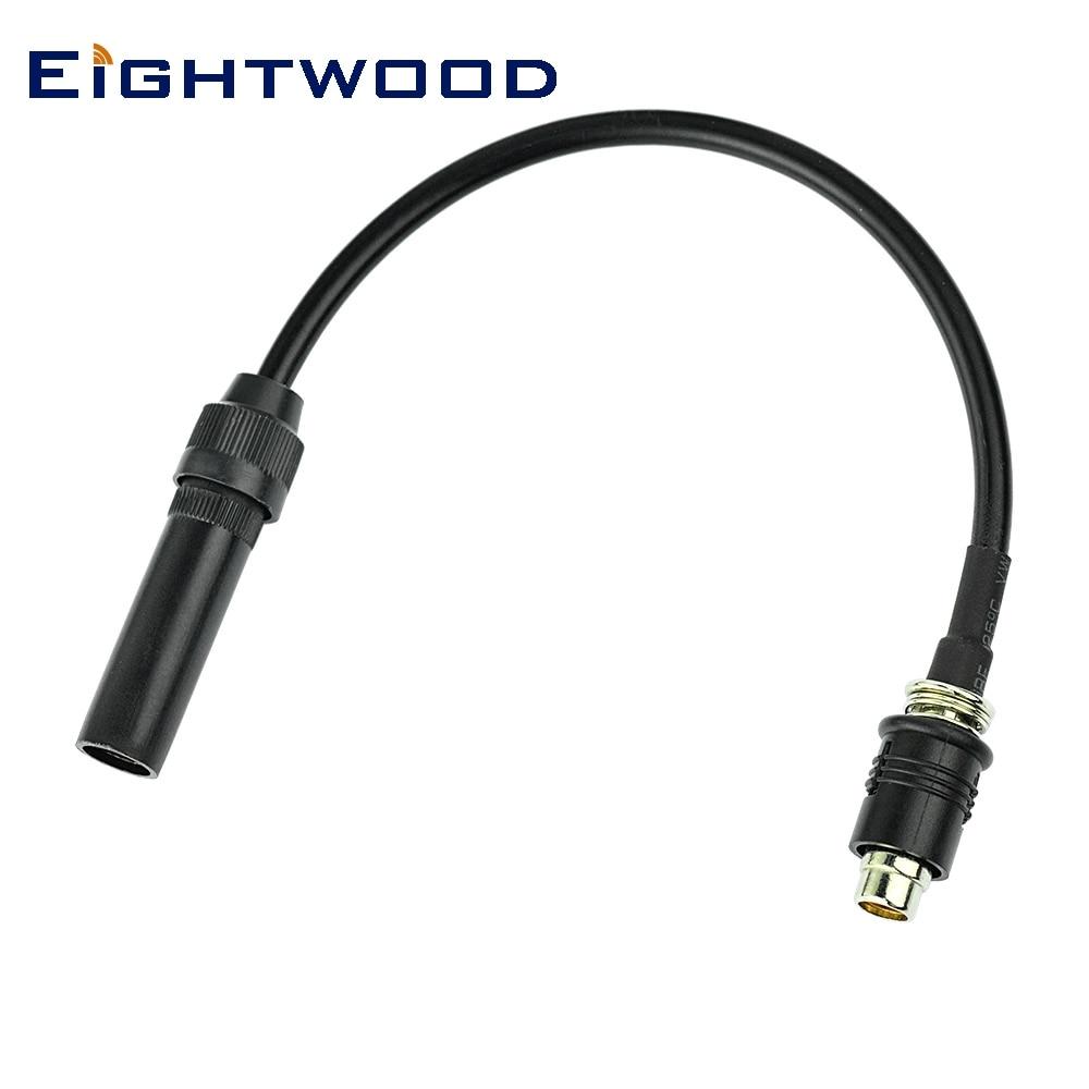 Eightwood RAKU RAST II - DIN macho a AM/FM Jack Crimp RG58 Cable para coche satélite SIRIUS XM Radio DAB + antena adaptador de Cable