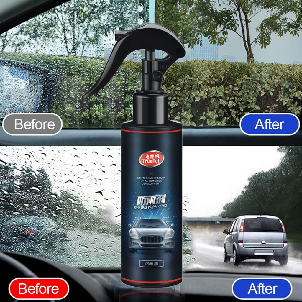 Car Front Windshield Anti-Rain Agent Waterproof Rainproof Spray Window Glass Cleaner Coating Rain Mark Oil Film Remover #LR3