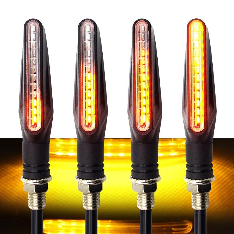 Luz LED trasera de señal de giro para motocicleta, Accesorios para Moto...