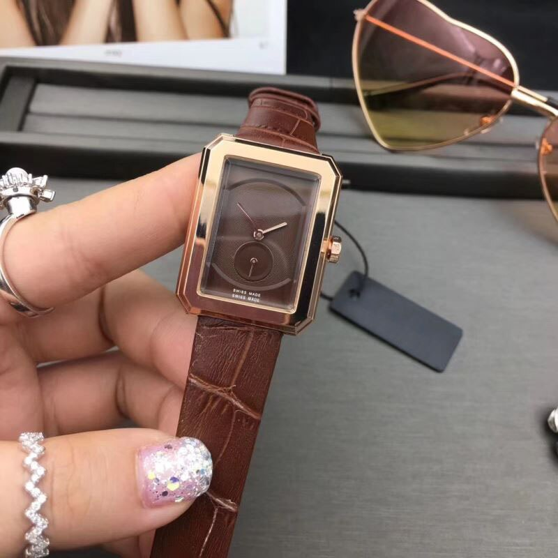 Luxury Watches Ladies Top Brand Fashion Quartz Watches Classic Ultra-thin Watches Square Clock Leather strap Reloj de mujer enlarge