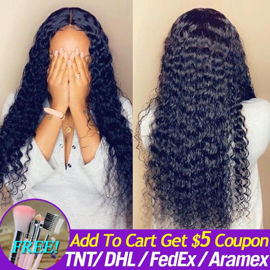 Mechones Janin Hair Indian Deep Wave con cierre puede hacer pelucas 8-26 pulgadas libre medio tres Partes negro Natural para mujeres Remy