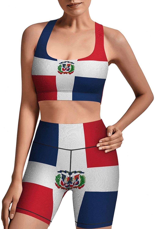 Женская одежда для йоги с китайским флагом, комплект из 2 предметов, хорошая эластичность и мягкость, спортивная одежда для бега и тренирово...