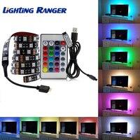 USB Power TV Светодиодная лента светильник 2835 5050 RGB Неоновый ТВ экран подсветка светильник Декор RGB 1 м/2 м/3 м/4 м/5 м для спальни декор для гостиной