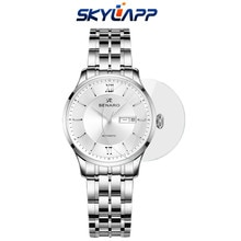 2 Pcs Women's mechanical watch tempered film for SENARO 88013L HD Full screen explosion-proof glass