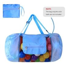 Beach Mesh Bag Toy Tote Drawstring Beach Backpack Swimming Bag For Children For Travel Beach Waterpark Supermarket Storage Bag