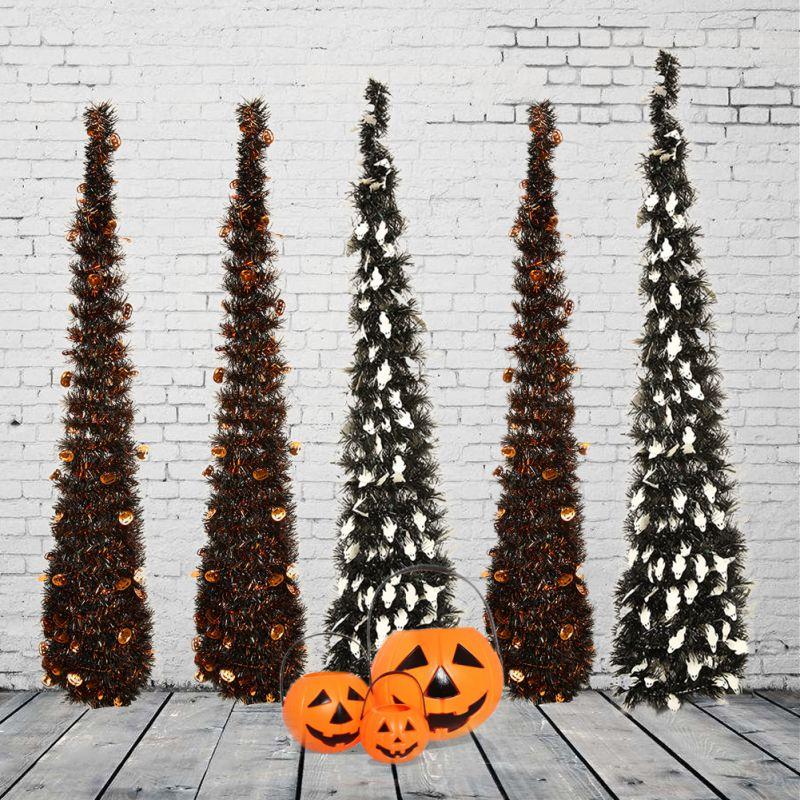 106cm dobrável torre-em forma de árvore de natal enfeites costeiros árvore de natal para decorações de natal
