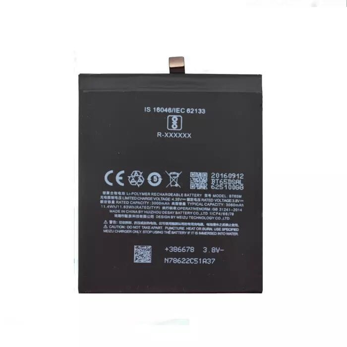 For Meizu MX6 Mobile Phone BTBT65M 3000mAh battery
