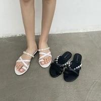 zar women slippers 2020 summer new rome sandals flat casual shoes female beaded slip on slides woman plus size sandalias mujer