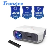 TRANSJEE projecteur LED 1280x720HD Home Cinema film projecteur 3D video Beamer Support 1080P 4600 Lumens A4300AIR