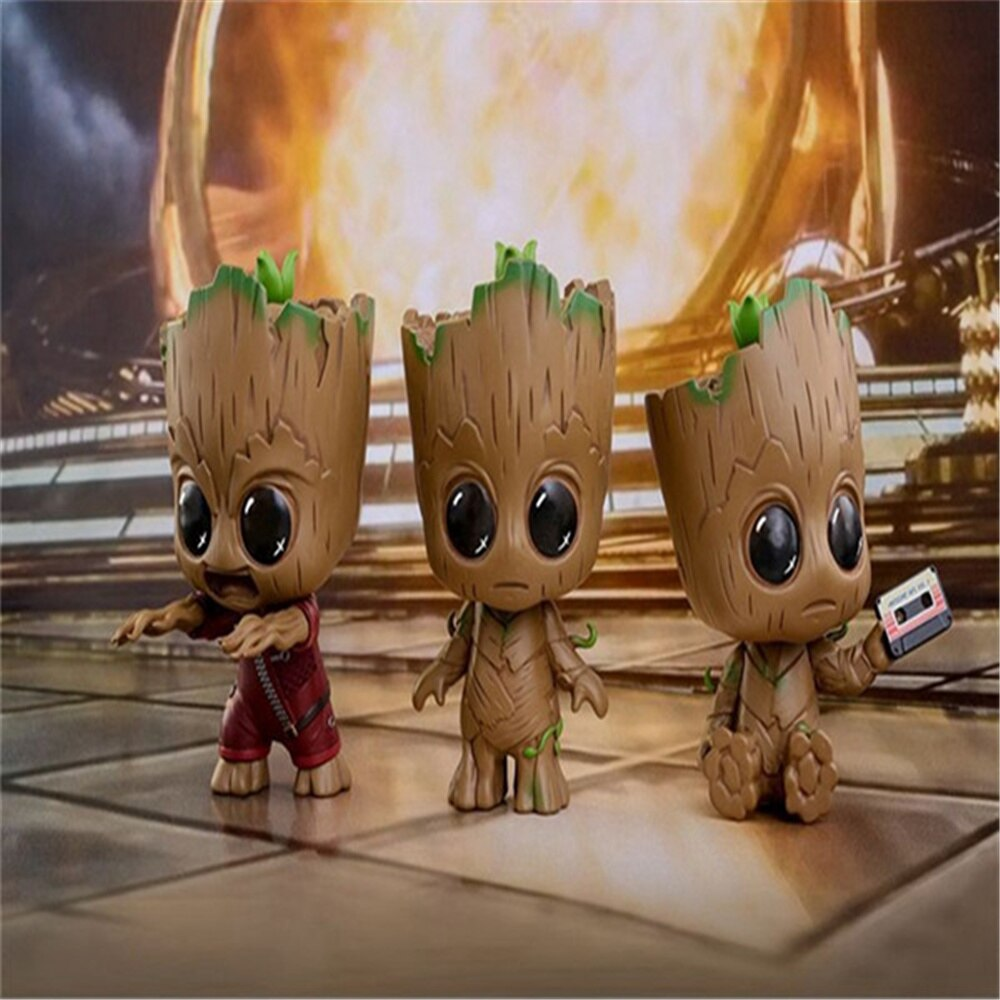 Marvel Guardians of the Galaxy 2 Little Tree Man Groot 8 Cm Pvc Cartoon Mini Action Figure Collectible Anime Toy Doll Model