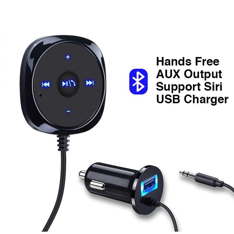 Автомобильный комплект громкой связи Bluetooth, USB-зарядное устройство с поддержкой AUX-выхода, музыкальный проигрыватель Bluetooth