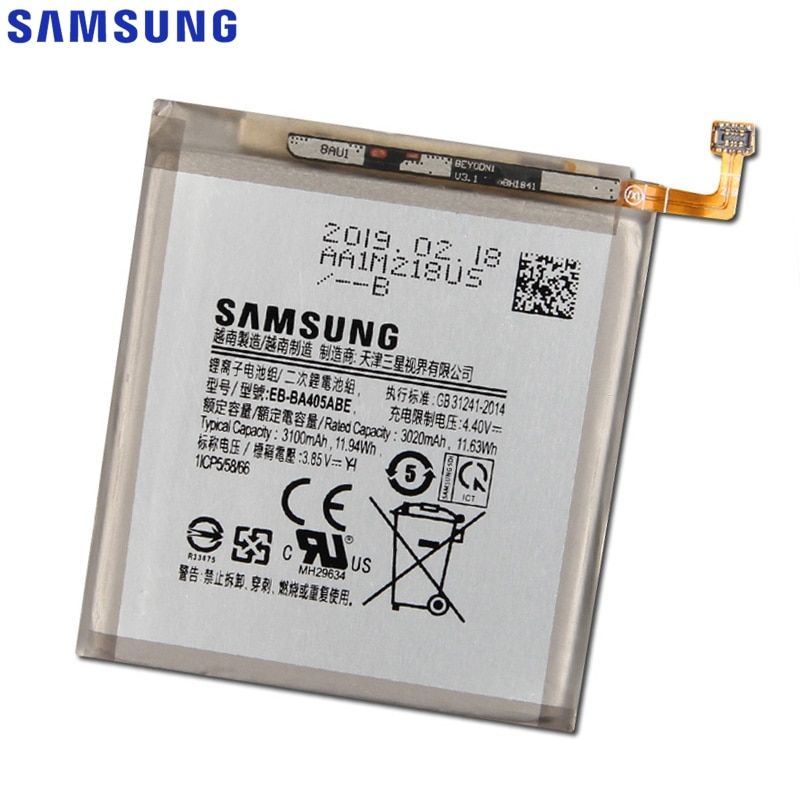 Samsung Original EB-BA405ABE Battery for Samsung GALAXY A40 A405F EB-BA405ABU Genuine Replacement Phone Battery 3100mAh enlarge