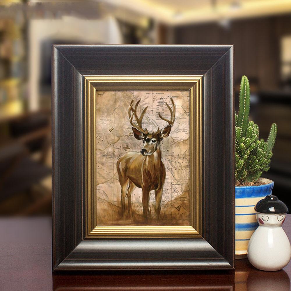 Vintage Massivholz Foto Bild Rahmen Für Porträt Landschaft Ansicht Desktop Wand Display Kaffee Shop Kunst Galerie