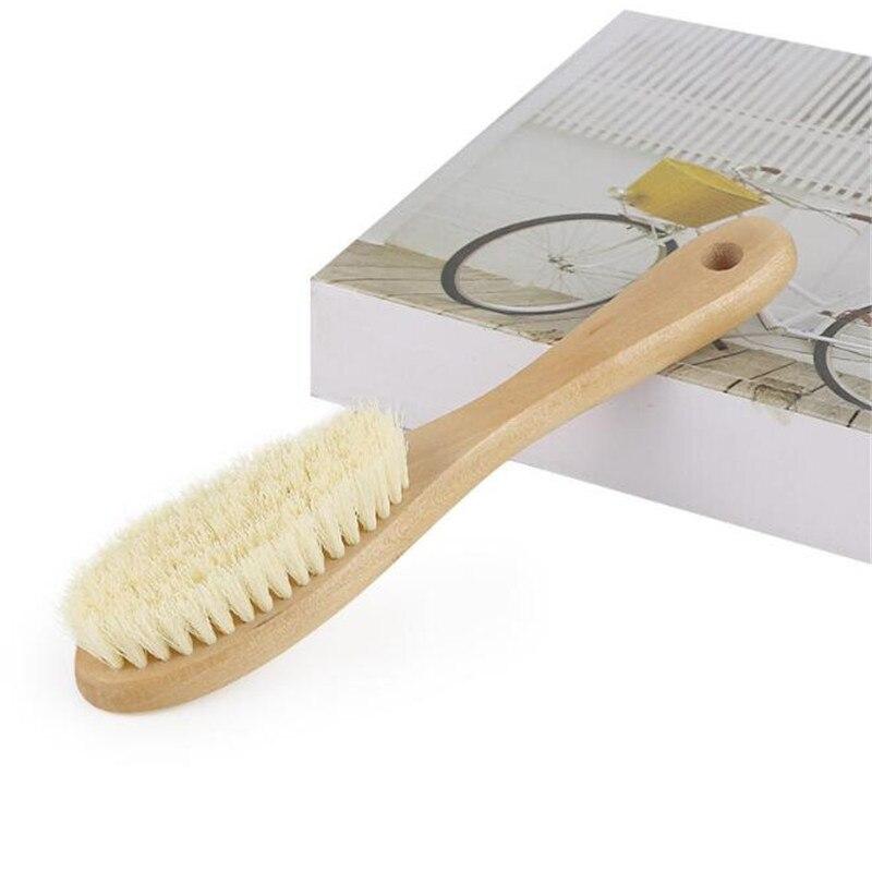 Cepillo de limpieza con mango de madera Natural, cepillo multifunción para ropa, herramienta de limpieza, cepillo para zapatos para limpieza de ropa del hogar