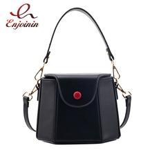 Mode géométrique forme Design en cuir Pu femmes seau sac fourre-tout sac à bandoulière dames sac à main sac décontracté pochette 4 couleurs