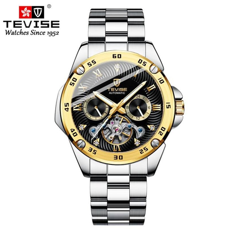 Tourbillon Skeleton Watch 2021 New Mechanical Watch Luxury Watch Mens Watches Stainless Steel Clock
