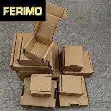 100 stücke Neue Kraft Papier Mailing Box Express Transport Well Verpackung Box DIY Blank Handwerk Box Karton Kurier Box