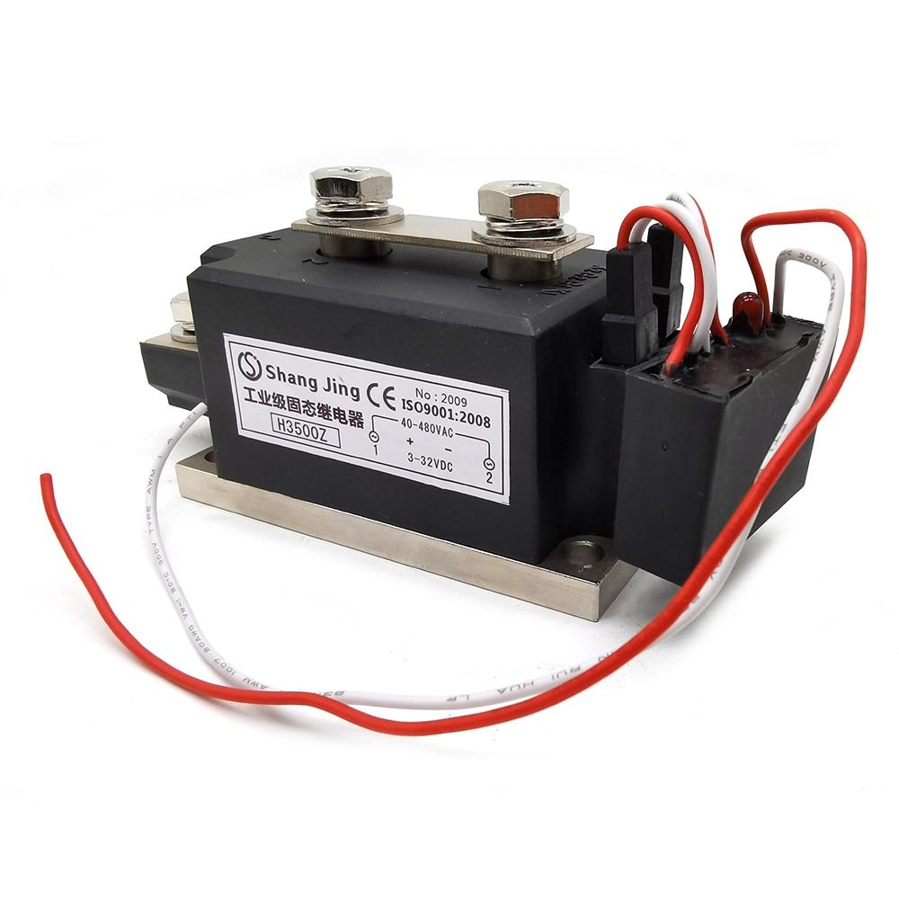 وحدة ترحيل الحالة الصلبة SSR ذات استهلاك منخفض عالي 2020 بقدرة 500A وحدة ترحيل الحالة الصلبة مرحلة واحدة خرج 3-32VDC 35-480VAC