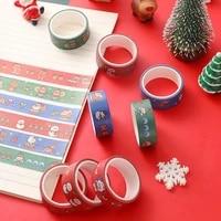 cartoon stationery washi tape diy decoration sticker christmas hand account tape kawaiifor decor diary hand book journal