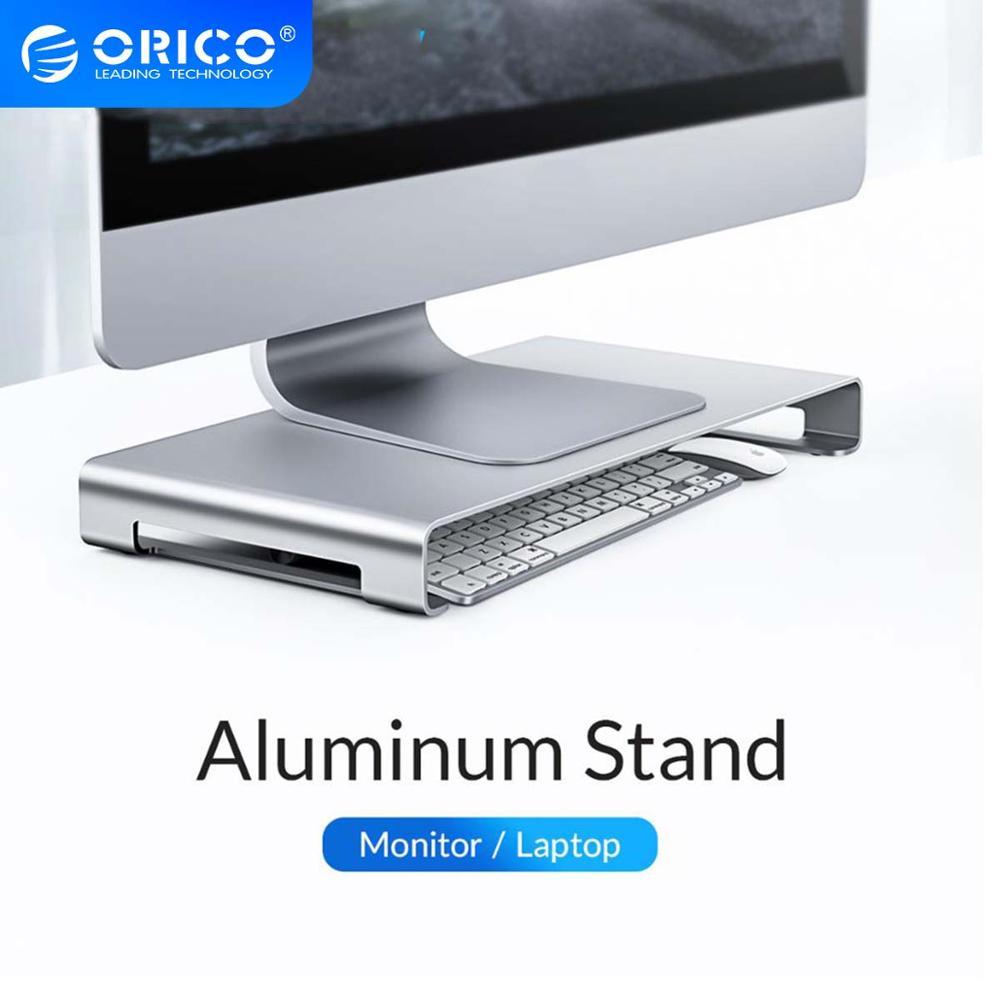 Подставка для монитора ноутбука ORICO, из алюминиевого сплава, подставка для ПК с держателем для iMac, MacBook, гаджеты для компьютера и ноутбука
