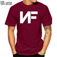 nf real music logo black t shirt tees clothing t shits printing short sleeve casual o neck cotton
