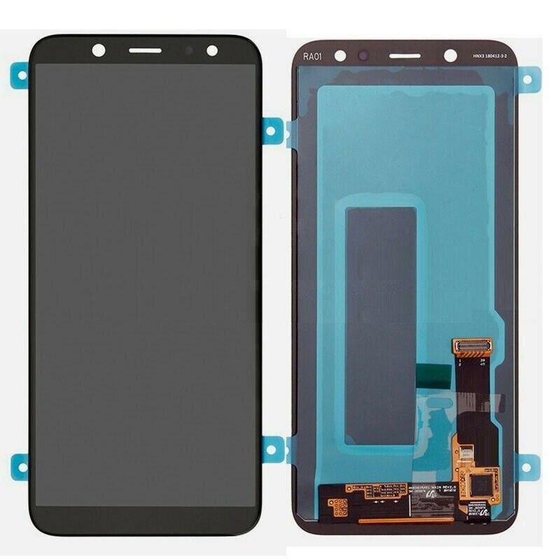 لسامسونج غالاكسي A6 2018 SM-A600 اللون الأسود الأصلي AMOLED LCD وشاشة تعمل باللمس التجمع