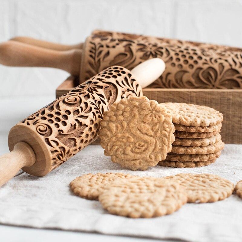 35*5cm natal veados pino de rolamento de madeira em relevo cozimento biscoitos macarrão biscoito fondant natal modelado rolo pino snowflak
