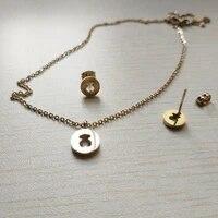 hot style stainless steel memorial mama love earring pendant set memorial bear animal jewellery