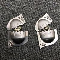 3d dragon egg and cobra egg diy metal badge for zippo kerosene oil lighter grind wheel lighter handmade decor accessory man gift