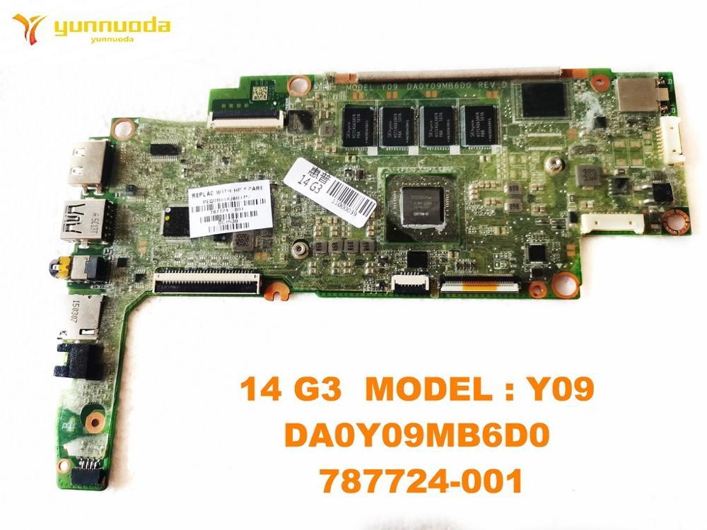 اللوحة الأم الأصلية للكمبيوتر المحمول HP 14 G3 ، موديل Y09 DA0Y09MB6D0 787724-001 ، تم اختباره ، شحن مجاني