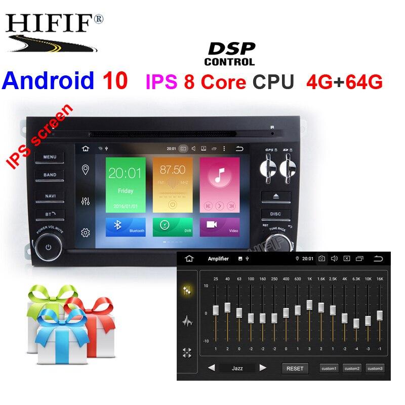 ¡IPS! Reproductor Multimedia de DVD para coche 2 Din Android 10, navegación GPS para Porsche Cayenne 2003-2010, Radio fm, unidad principal ESTÉREO