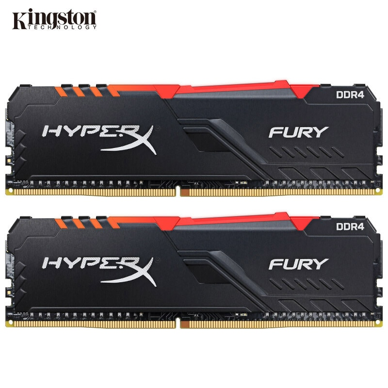Kingston HyperX FURY RAM DDR4 RGB Memoria 2400MHz 2666MHz 3000MHz 3200MHz 3466MHz DIMM XMP Memoria ddr4 para escritorio Memoria Ram